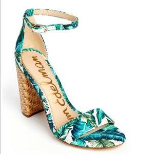 Sam Edelman Yaro Sandal Heels Jade Palm 7.5